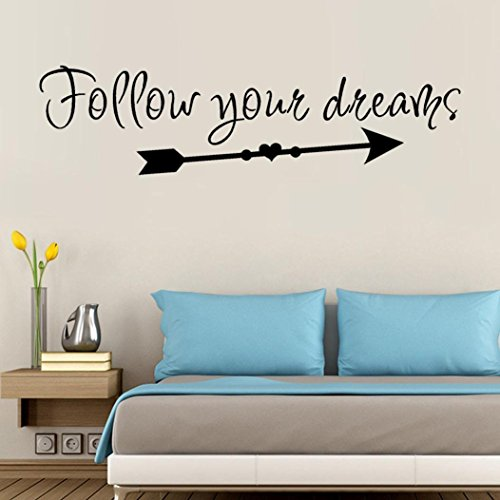 YJYdada Follow Your Dreams Removable Art Vinyl Mural Home Room Decor Wall Stickers ()