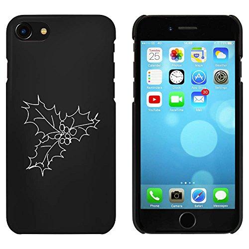 Noir 'Feuilles de Houx et Baies' étui / housse pour iPhone 7 (MC00079021)