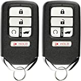 KeylessOption Keyless Entry Remote Start Smart Car Key Fob for Honda Pilot CR-V Civic 2016-19 KR5V2X (Pack of 2)