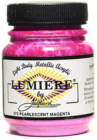 Jacquard Lumiere Artist Acrylics (Pearl Magenta) 2 pcs sku# 1826152MA