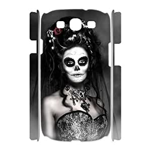 ALICASE Cover Case Sugar Skull 3D Diy For Samsung Galaxy S3 I9300 [Pattern-4]