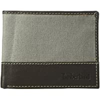 Timberland Men's Canvas and Leather Billfold Gift Set (Steeple Grey)