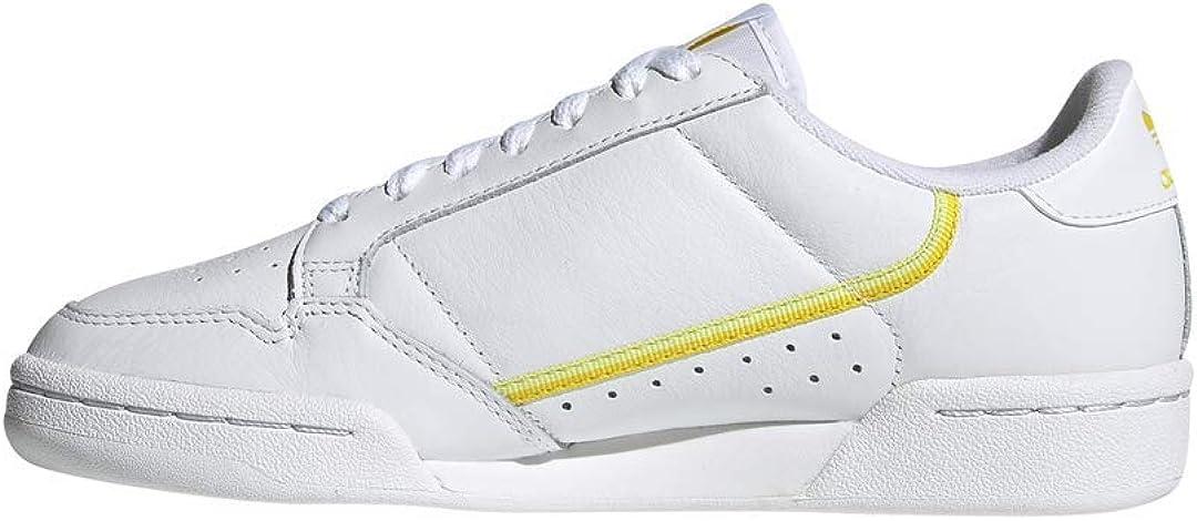 adidas Damen Continental 80 W Fitnessschuhe Ftwwht Yellow Sefrye