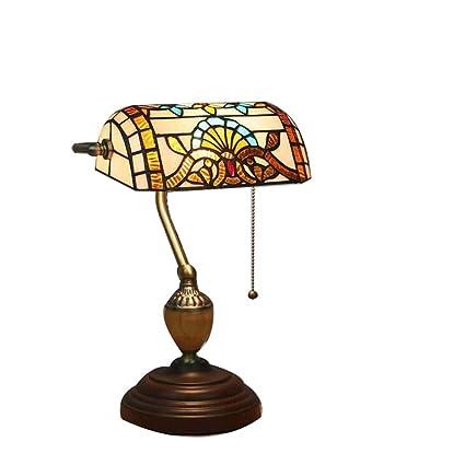 Amazon.com: Tiffany Bank Lamp Retro Handmade Tiffany Style ...