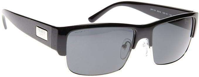 Amazon.com: Prada anteojos de sol SPR 11 M 1 AB-1 A1 Negro ...