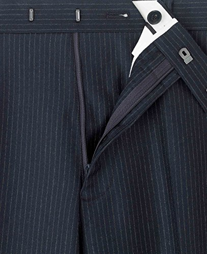 The Savile Row Company Savile Row Men's Navy Pinstripe Business Suit Trousers 34'' 32'' by The Savile Row Company (Image #3)