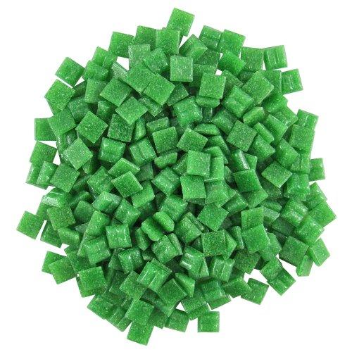 - Jennifer's Mosaics 3/8-Inch Venetian Style Glass Mosaic Tile, Grass Green, 8-Ounce