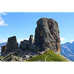 LAMINATED 36x24 Poster: Italy Dolomites Europe Mountain Landscape Rocks Scenery Alpine Peak Summit Tirol Tyrol Range Mount Top