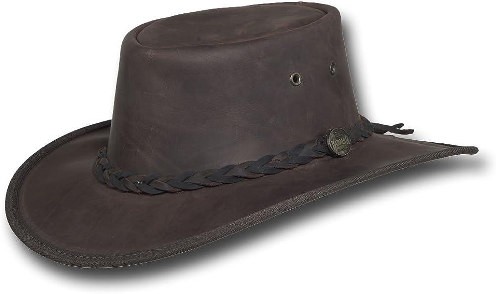 Barmah Hats Squashy Bronco Leather Hat - Item 1022