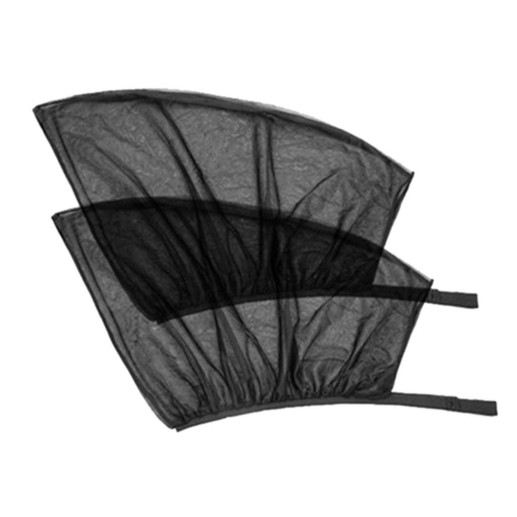 Ben-gi 1 Paio di Sun della Visiera della Finestra Anteriore//Posteriore Parasole Mesh Net Design Nero Auto Parasole Curtain