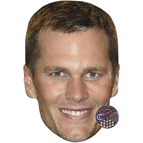 Tom Brady (Smile) Celebrity Mask, Card Face Fancy Dress Mask -