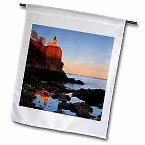 3dRose fl_91374_1 Split Rock Lighthouse Two Harbors Minnesota US24 CHA0071 Chuck Haney Garden Flag, 12 by 18-Inch