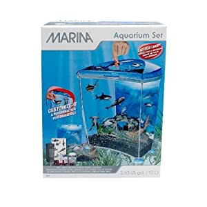 Marina shark betta aquarium decor by marina for Betta fish tanks amazon