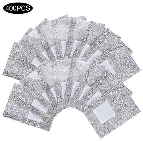 BTYMS 400 Pcs Nail Polish Remover Nail Foil Wraps Nail Gel Remover Soak Off Foils Cotton Pads Acrylic Removal Wraps