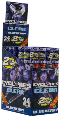 Cyclones Pre Rolled Transparent Cone Blueberry Flavor ()