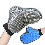 Pet Grooming Glove Brush - Gentle Efficient Deshedding...