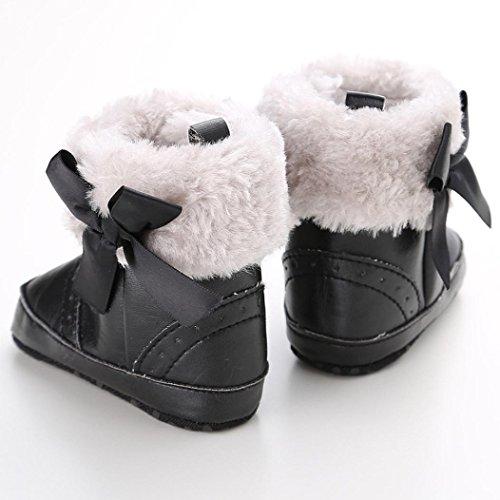 Zapatos Bebé,Xinantime Suave Botas de Niño Caliente Invierno Moda (18, Khaki) Negro