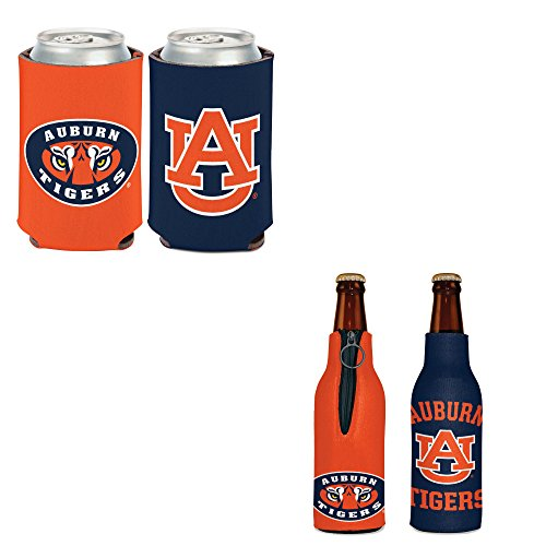 WinCraft Bundle - 2 Items: Auburn University Bottle Cooler and Can Cooler (Bottle Tigers Auburn)