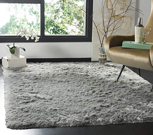 (Safavieh Paris Shag Collection SG511-1003 Sage Polyester Area Rug (5' x 8'))