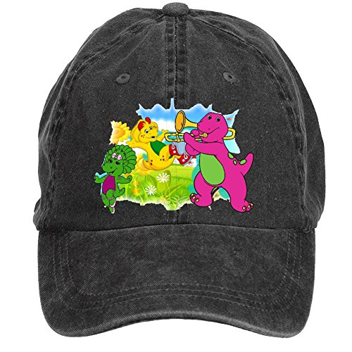 tommery-unisex-barney-friends-hip-hop-baseball-caps
