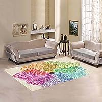 AnnHomeArt flower mandala Area Rug Modern Carpet7x5
