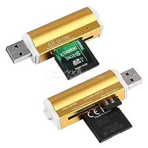 USB ARBUYSHOP Todo en 1 multi lector de tarjetas de memoria para MMC SDHC TF M2 Memory Stick yks caliente nueva