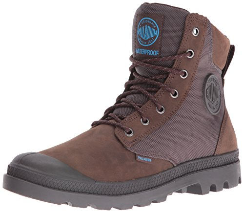 Palladium Men's Pampa Sport Cuff Wpn Rain Boot, Chocolate/Forged Iron, 10.5 M US