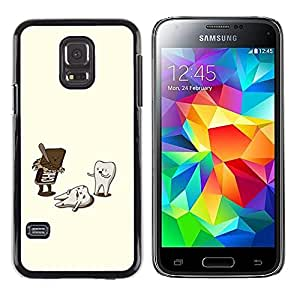 Exotic-Star ( Dentist Funny Sweets Oral Care ) Fundas Cover Cubre Hard Case Cover para Samsung Galaxy S5 Mini / Samsung Galaxy S5 Mini Duos / SM-G800 !!!NOT S5 REGULAR!