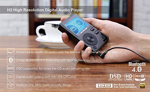 HIFI WALKER H2 High Resolution Lossless MP3 Bluetooth FLAC WAV