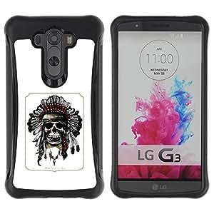 Suave TPU GEL Carcasa Funda Silicona Blando Estuche Caso de protección (para) LG G3 / CECELL Phone case / / Indian Feather Headdress Native American /