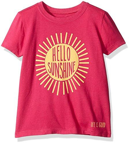 Toddler Crusher (Life is good Girls Toddler Hello Sunshine Tee, Bold Pink,)