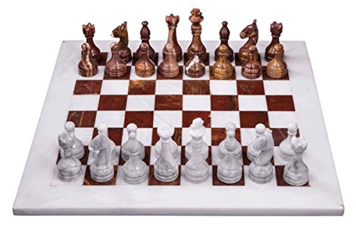 Onyx Set Red Chess (Marble Products International Red Onyx and White Chess Set)