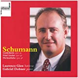 Schumann Liederkreis Op.24 / Dichterliebe Op.48 / 5 Songs Op.40. (Laurence Gien Baritone W.Gabr