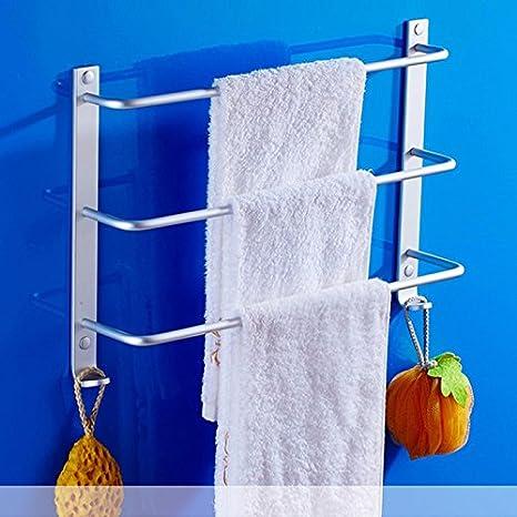 ZXC Bathroom racks Toalla de baño de Aluminio Espacio de Rack, con Tres Capas de
