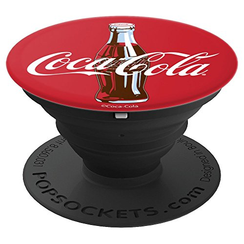 Coca-Cola Red Circle Retro Bottle Logo - PopSockets Grip and Stand for Phones and Tablets