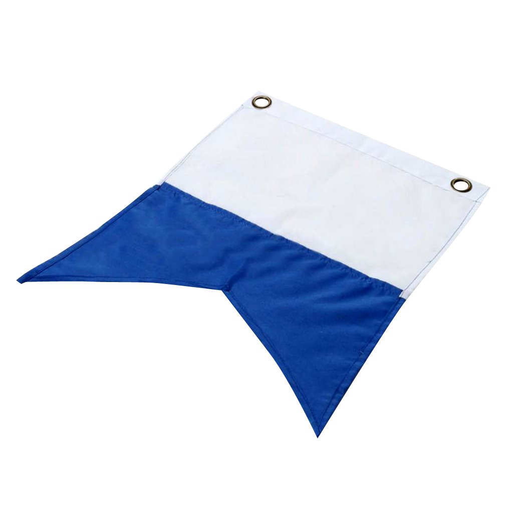 CUTICATE 30 X 35cm White Blue Polyester Dive Boat Alpha Flag Scuba Diving Accessories