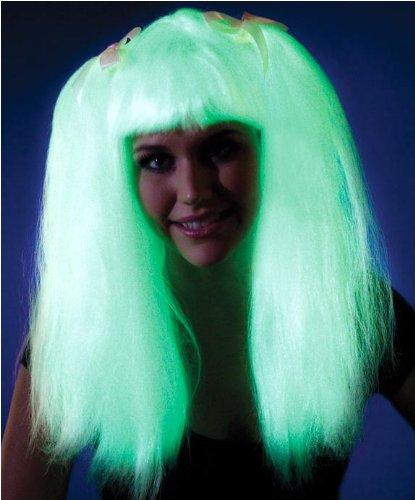 Glow in the Dark Pigtails Wig Costume (Glow In The Dark 15 Dresses)