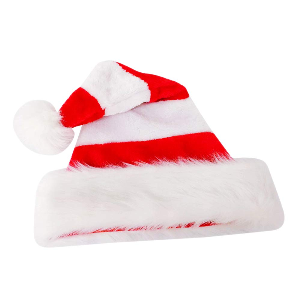 c60bca3168527 Amazon.com  BESTOYARD Santa Claus Hat Christmas Hat Singing Decoration for  Kid Adult Xmas Cap Festival Decor Gift Bag (Red and White)  Toys   Games