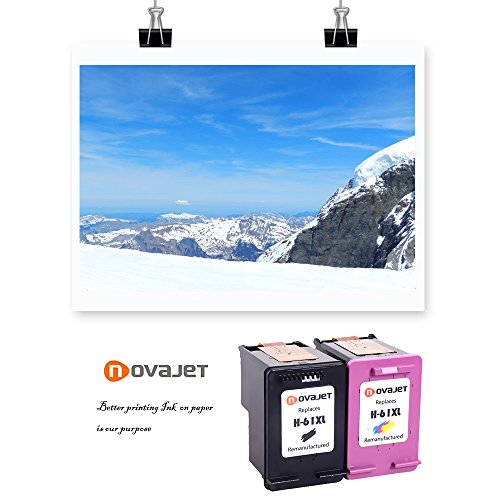 Novajet Remanufactured 61XL 61 XL Ink Cartridge (Black Colour) CH563WN CH564WN For HP Deskjet 1000 1050 2510 3510 -ENVY 4500 5530 Officejet 4630 4635 Photo #6