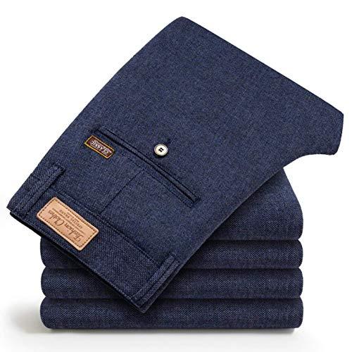 Zhi Fan Men's Slim Casual Fashion Elasticity Business Black Trousers Pants