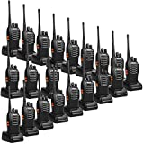 Retevis H-777 2 Way Radios UHF Long Range Two-Way Radios 16CH Emergency Portable Radios Walkie Talkies Set (20 Pack) with USB Charging Base