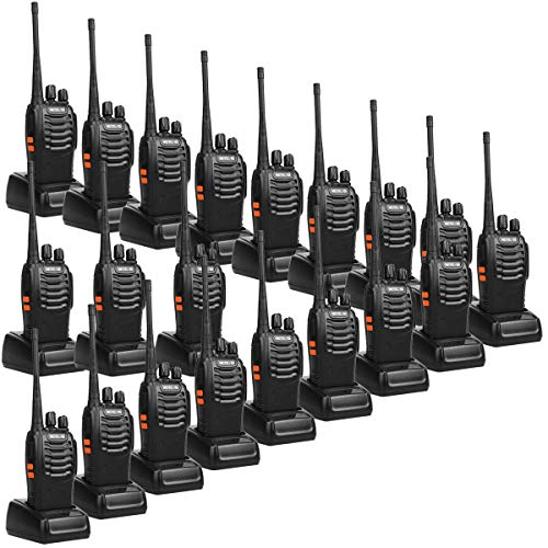 Retevis H-777 2 Way Radios UHF Long Range 16CH Emergency Portable Walkie Talkies Set (20 Pack) with USB Charging Base