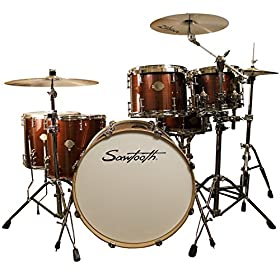 "Sawtooth Command 6-Piece Drum Set Shell Pack with 24"" Bass Drum 10"