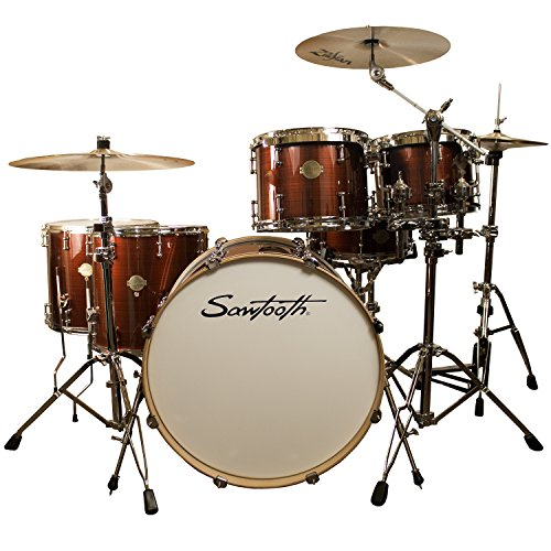 ST-COM-5PC-SS Silver Streak, Sawtooth Command Series 5-Piece Drum Shell Pack