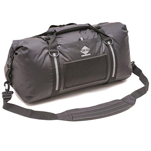608424ec1c8 Amazon.com  Aqua Quest White Water Duffel - 100% Waterproof 75 L Bag -  Lightweight, Durable, External Pockets - Black  Sports   Outdoors