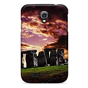 Pretty Galaxy S4 Case Cover/ Ominous Stonehenge Series High Quality Case
