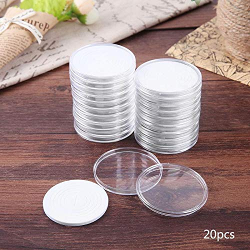 Storage Case - 20 Pcs Set 46mm Dia Round Clear Coin Storage Container Box Capsules Holder Commemorative Collection - Hardware Arts Vinyl Orange Stackable Small Rugged Cars Cd Matchbox