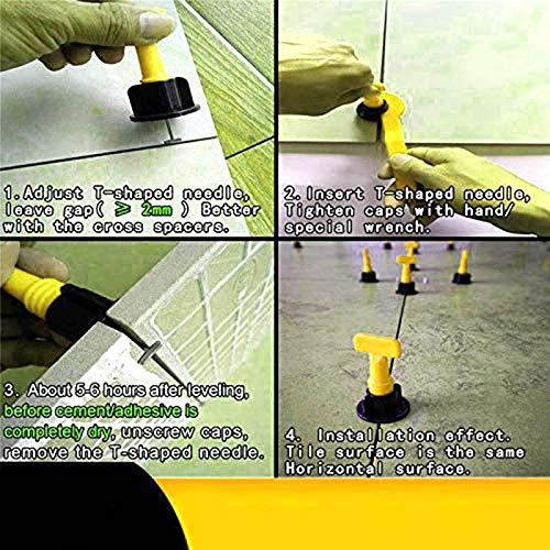 ZREAL Nivellement r/éutilisable de tuile doutils de Construction de Mur de Plancher en c/éramique 100Pcs