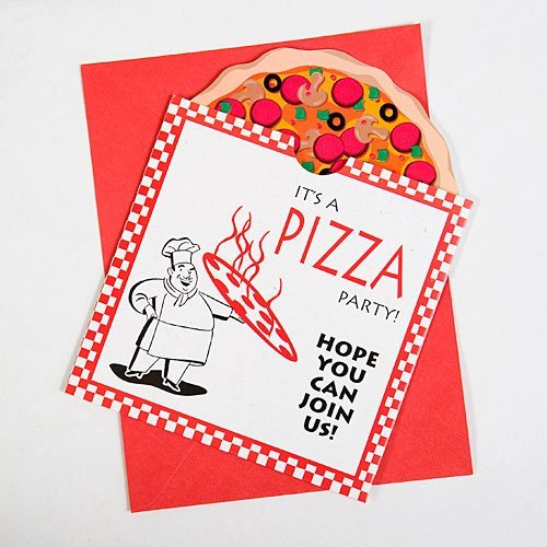 Pizza Party Invitations Package of 8