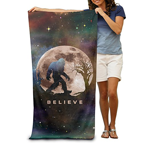 Funny Bigfoot Sasquatch Full Moon.PNG Adults Cotton Beach Towel 31